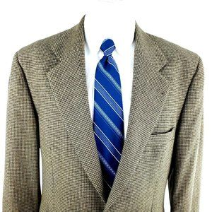 Joseph Abboud Mark Shale 40R 2 Button Tweed Check